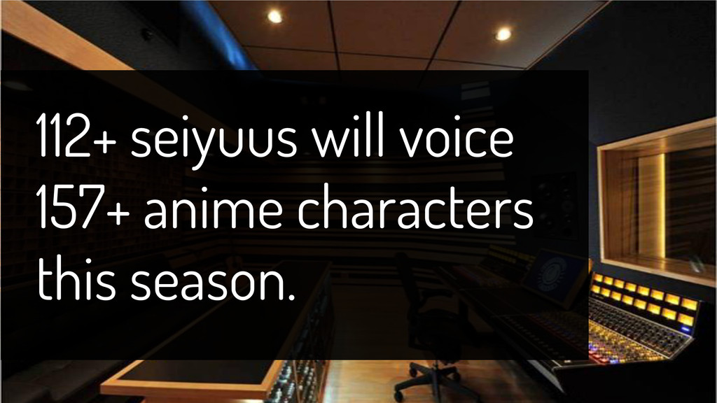 112+ seiyuus will voice 157+ anime characters t...