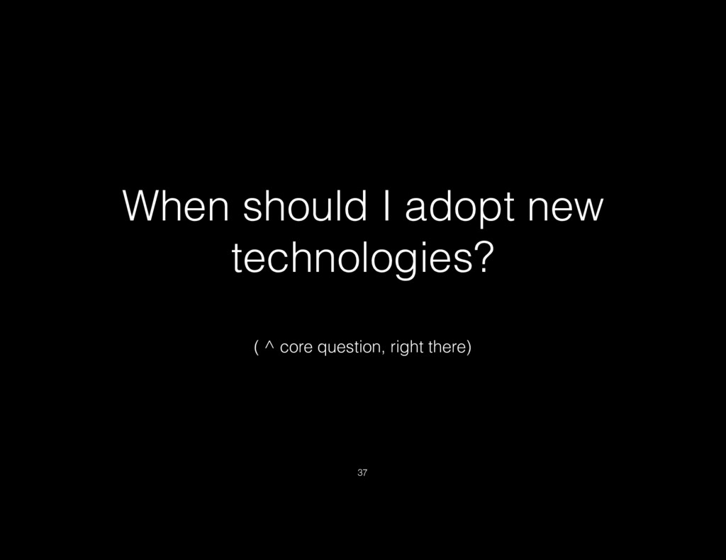 When should I adopt new technologies? ( ^ core ...