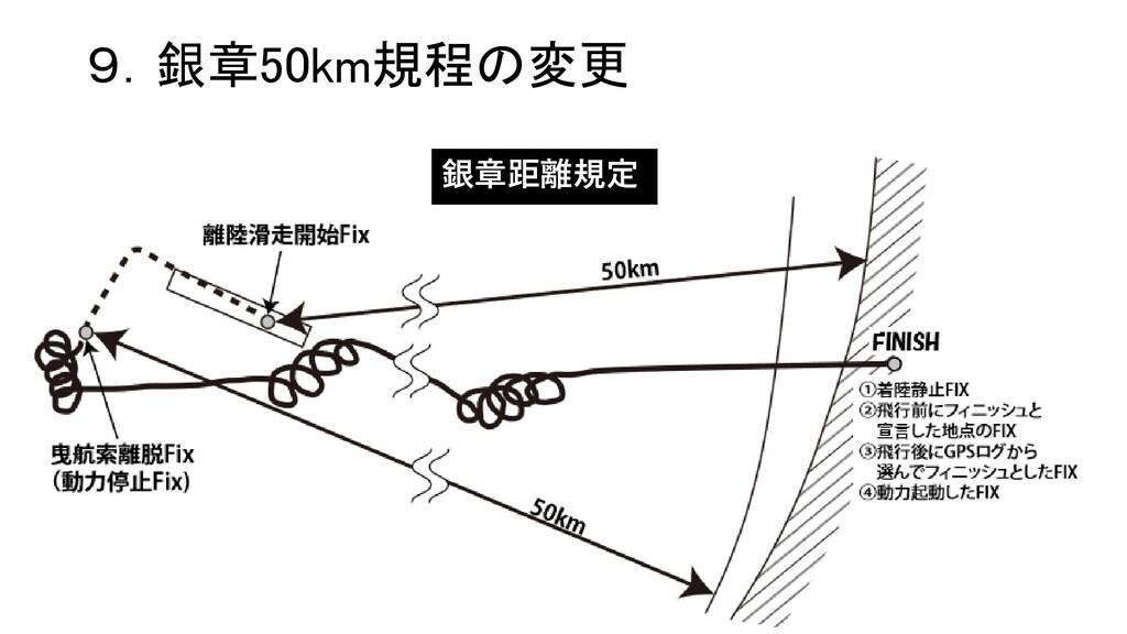 9.銀章50km規程の変更 銀章距離規定