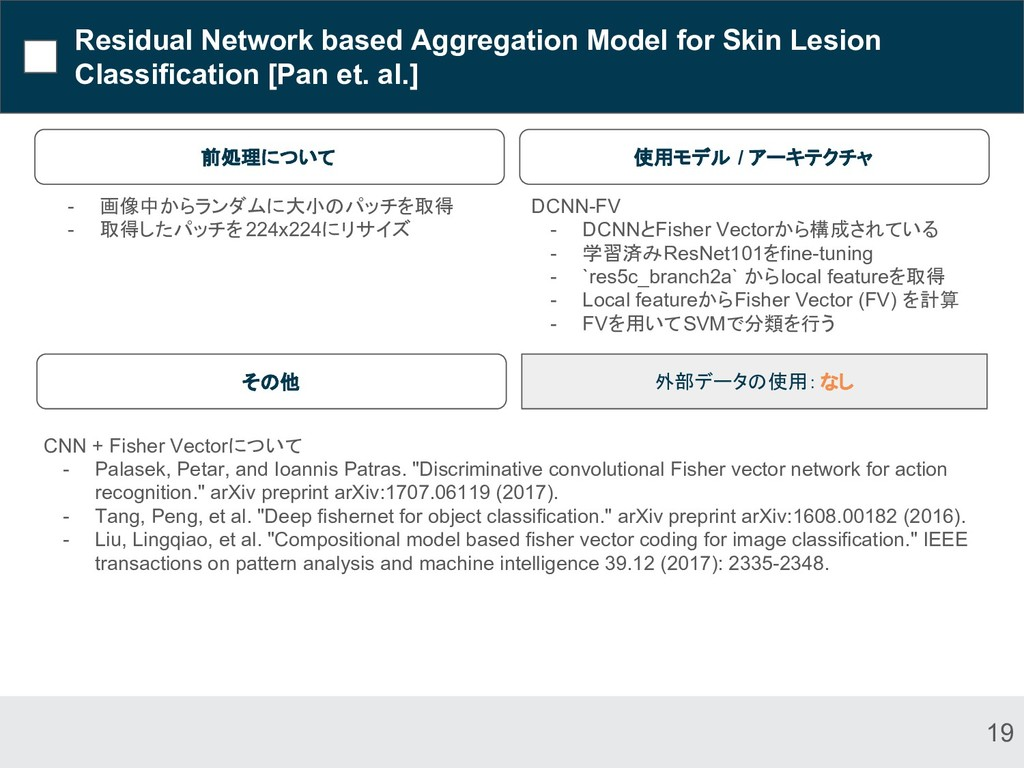 Residual Network based Aggregation Model for Sk...