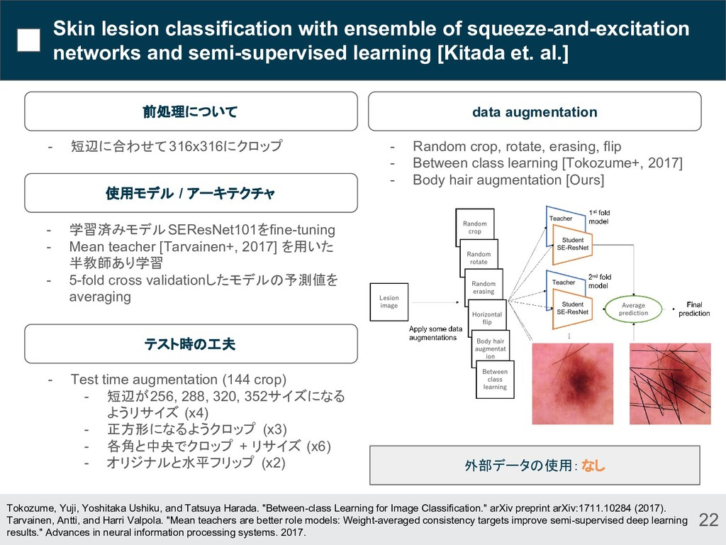 Skin lesion classification with ensemble of squ...