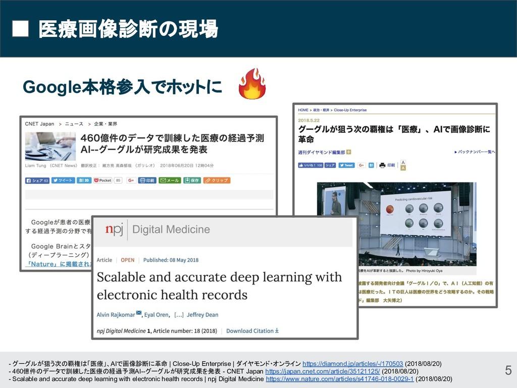 医療画像診断の現場 Google本格参入でホットに 5 - グーグルが狙う次の覇権は「医療」、...