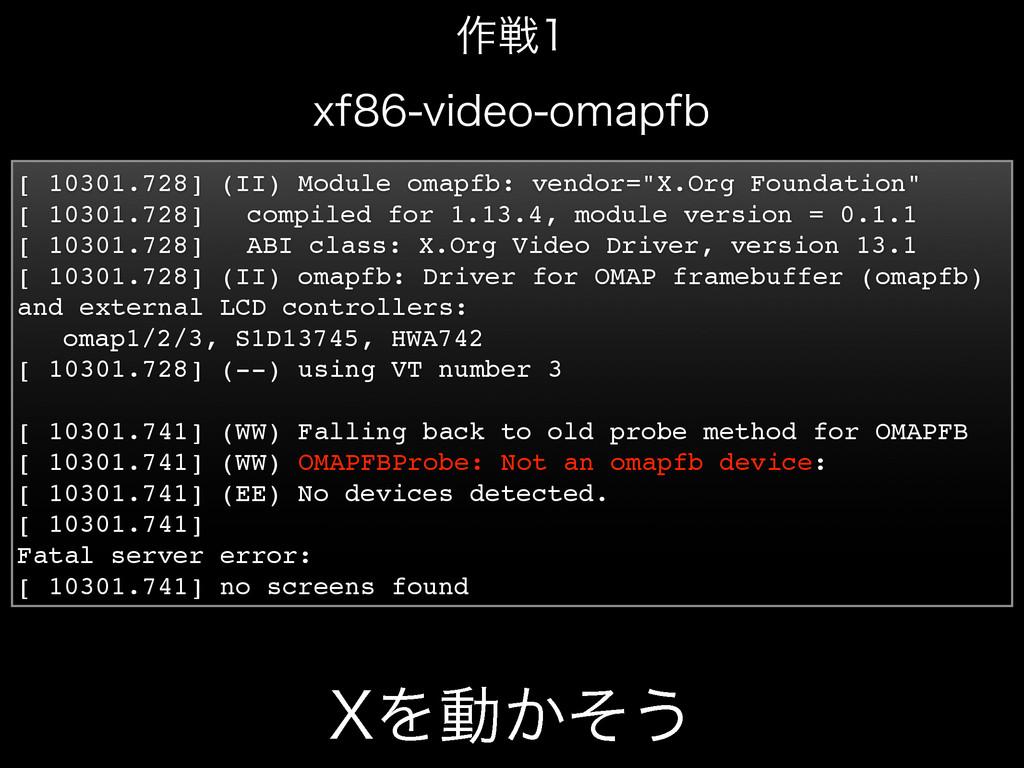 9Λಈ͔ͦ͏ [ 10301.728] (II) Module omapfb: vendor=...