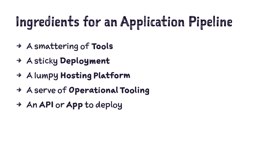 Ingredients for an Application Pipeline 4 A sma...