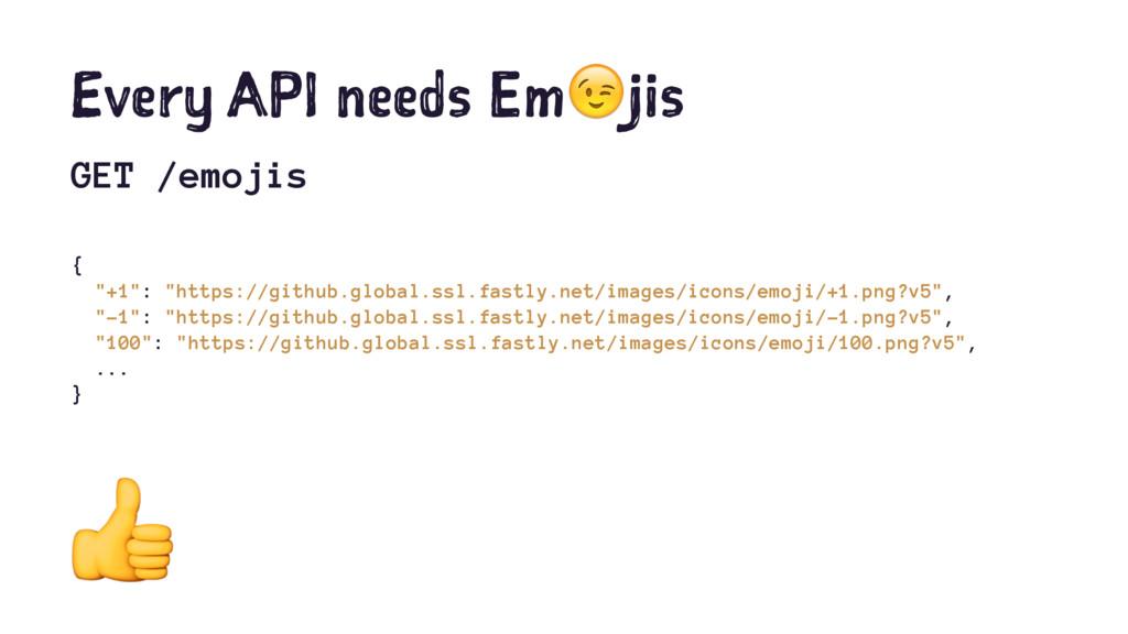 """Every API needs Em!jis GET /emojis { """"+1"""": """"htt..."""