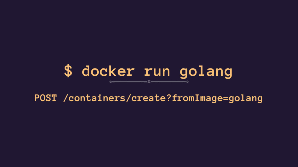 $ docker run golang POST /containers/create?fro...