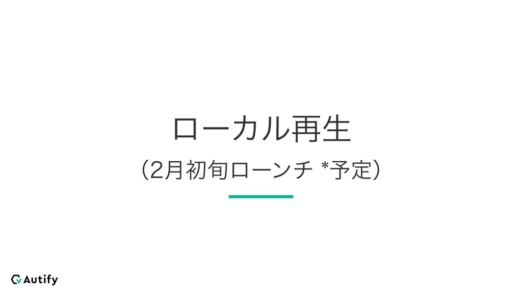 ϩʔΧϧ࠶ੜ ʢ݄ॳ०ϩʔϯν༧ఆʣ