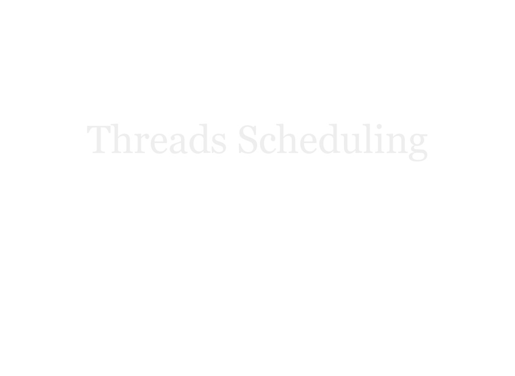 Threads Scheduling