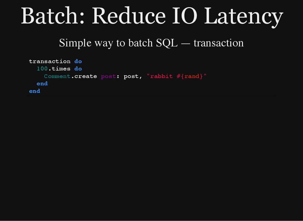 Batch: Reduce IO Latency Simple way to batch SQ...