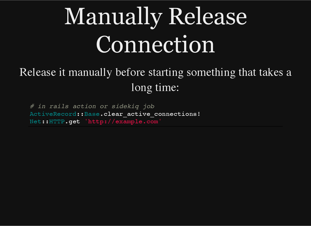 Manually Release Connection Release it manually...