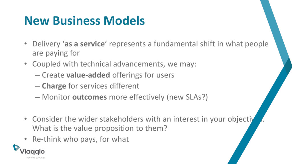 New Business Models • Delivery 'as a service' r...