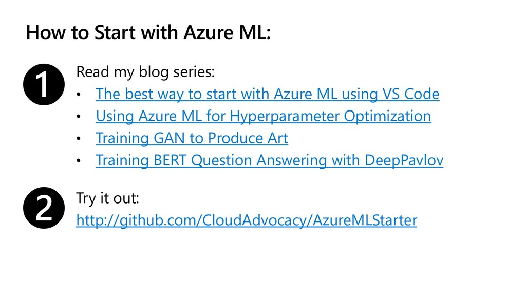 How to Start with Azure ML: Read my blog series...