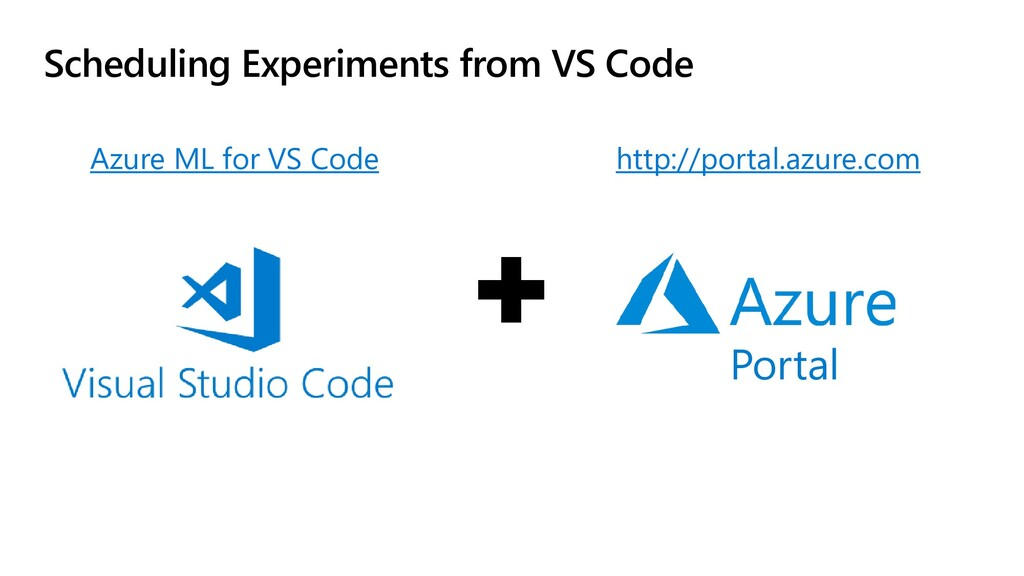 Scheduling Experiments from VS Code Azure ML fo...