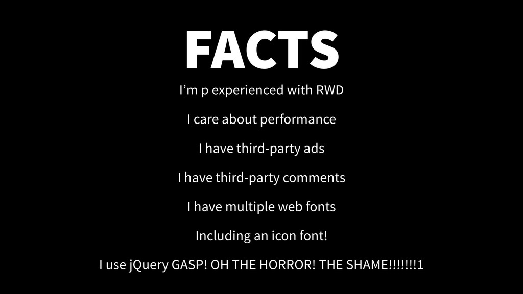 FACTS I'm p experienced with RWD I care about p...