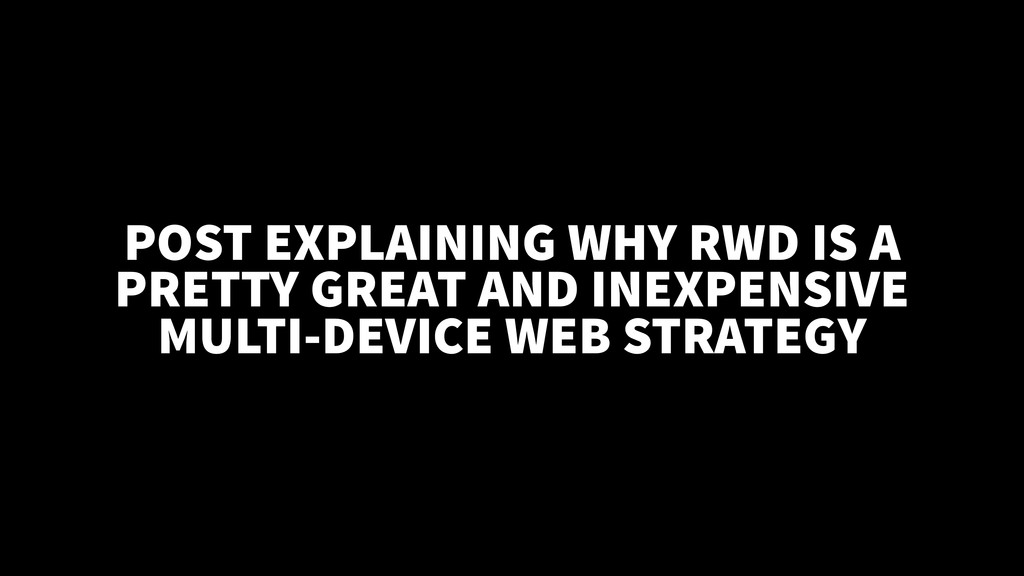 POST EXPLAINING WHY RWD IS A PRETTY GREAT AND I...