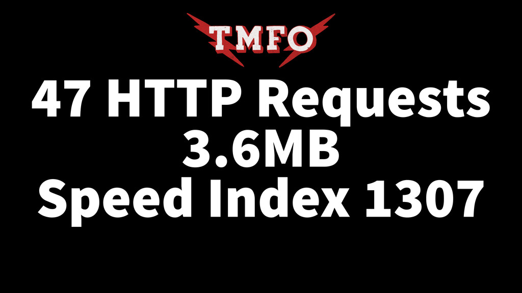 47 HTTP Requests 3.6MB