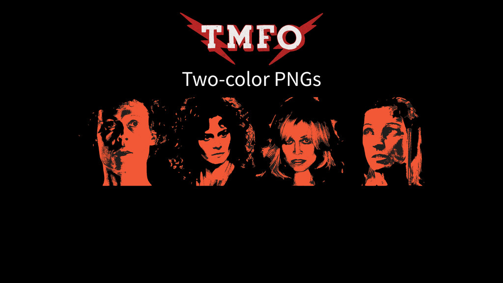 Two-color PNGs