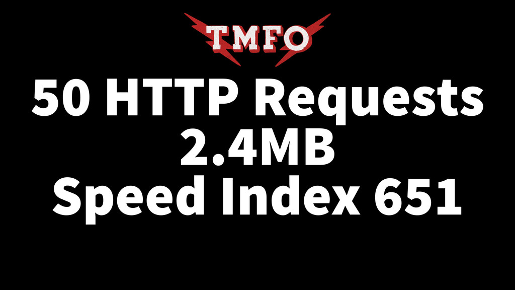 50 HTTP Requests 2.4MB