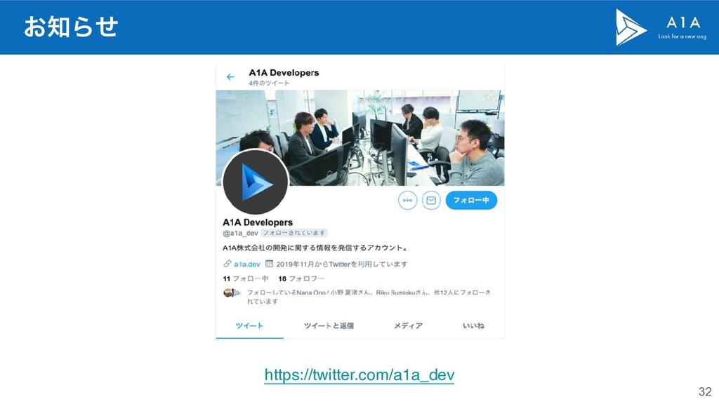 32 ͓Βͤ https://twitter.com/a1a_dev
