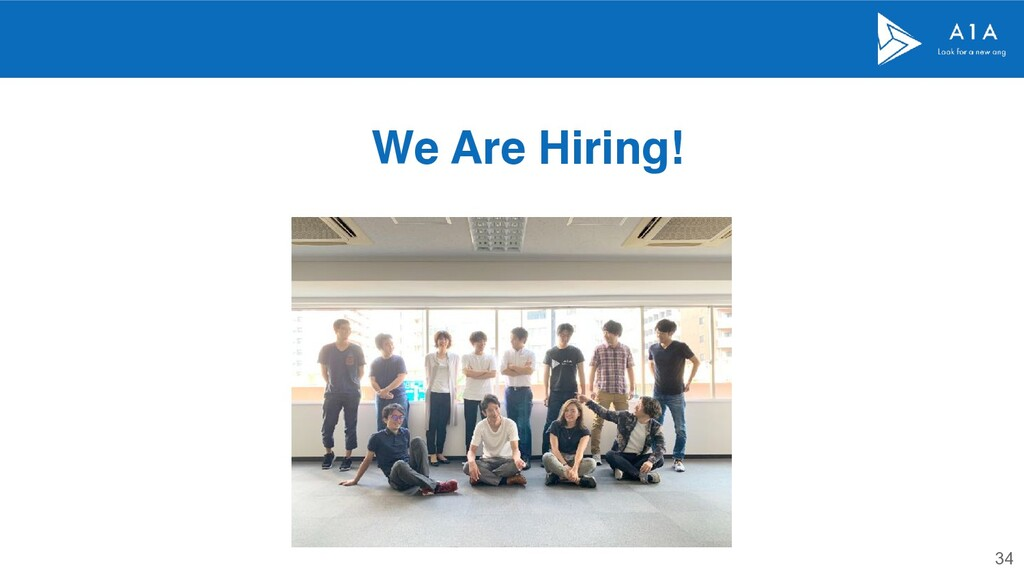 34 We Are Hiring!