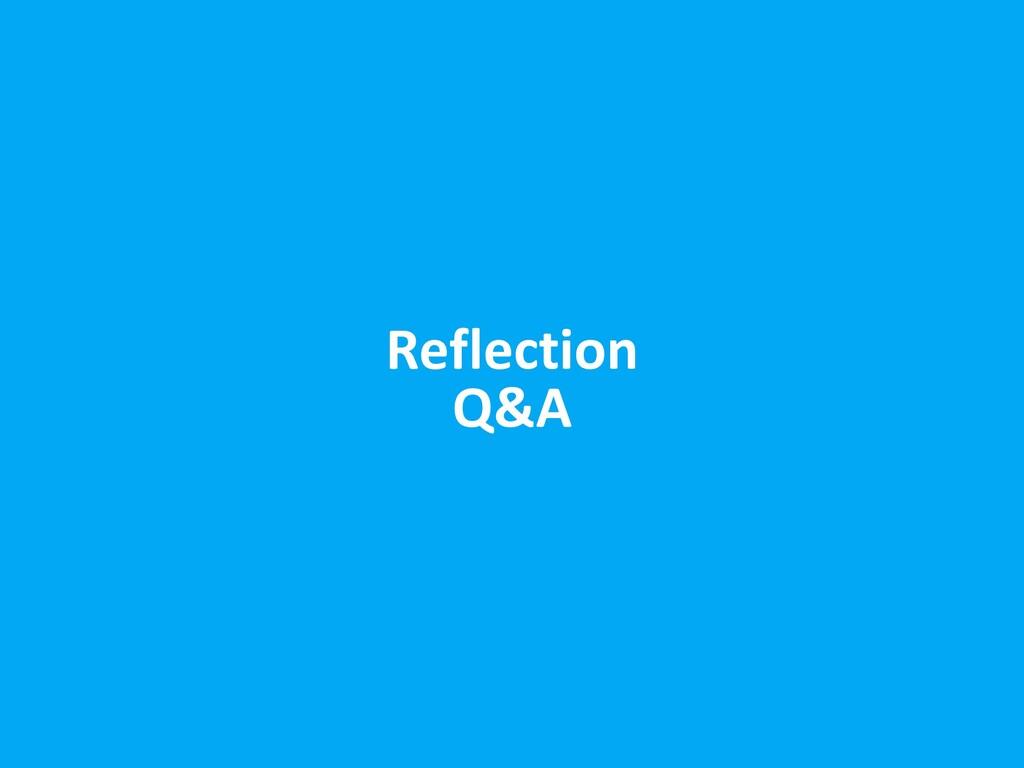 Reflection Q&A