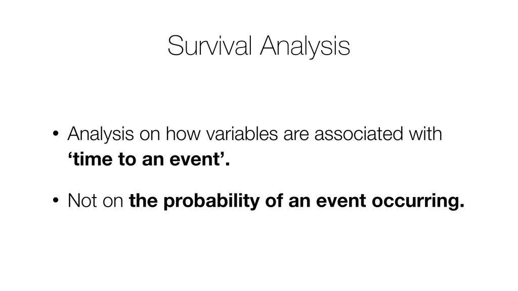 • Analysis on how variables are associated with...