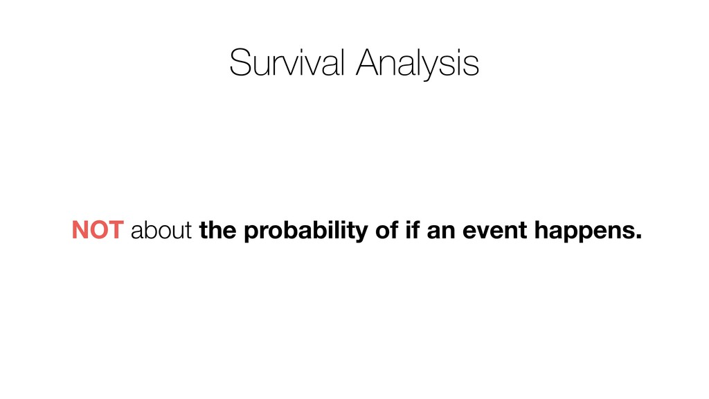 NOT about the probability of if an event happen...
