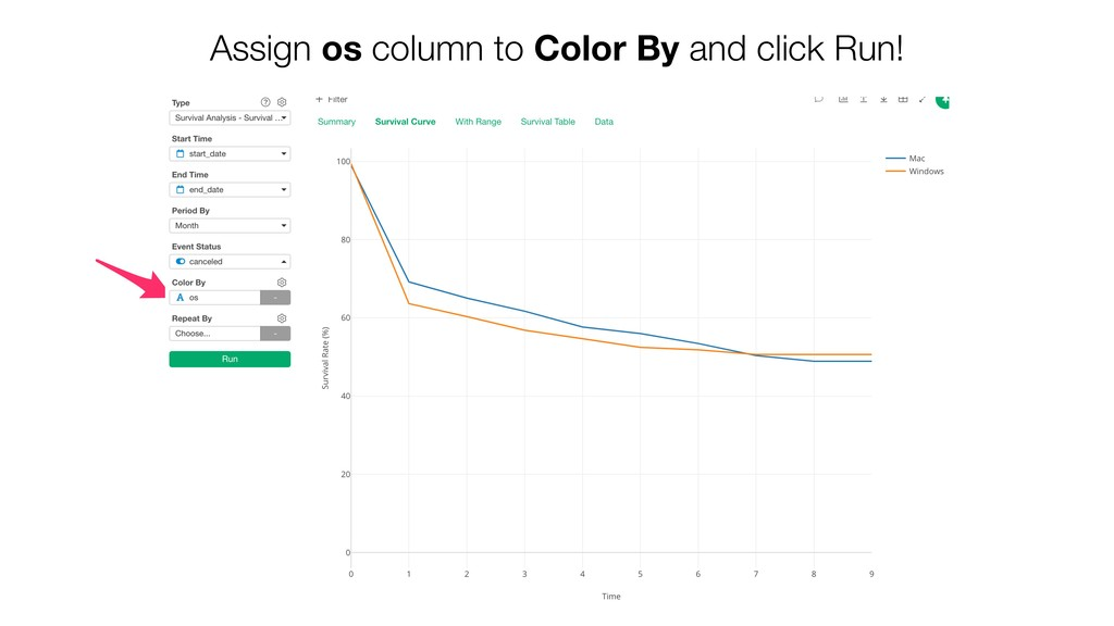 Assign os column to Color By and click Run!