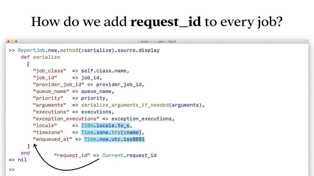 How do we add request_id to every job? >> Repor...