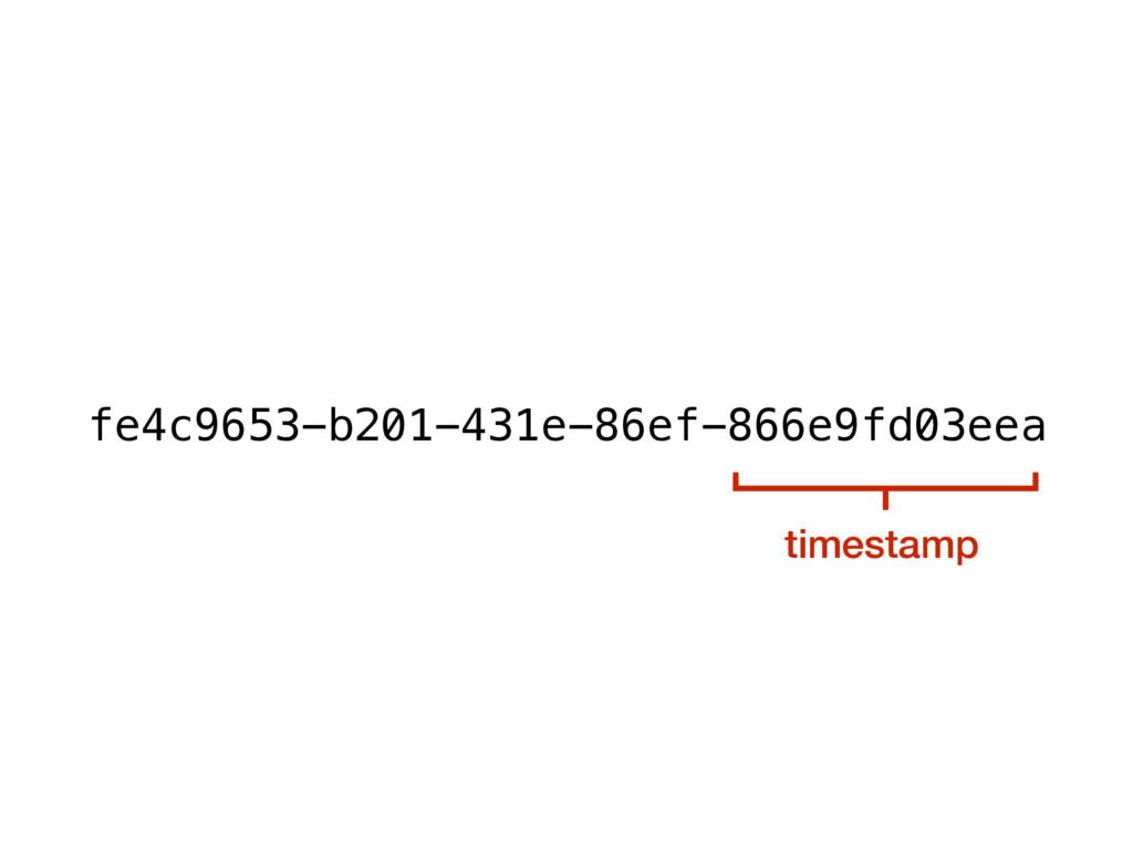 timestamp fe4c9653-b201-431e-86ef-866e9fd03eea