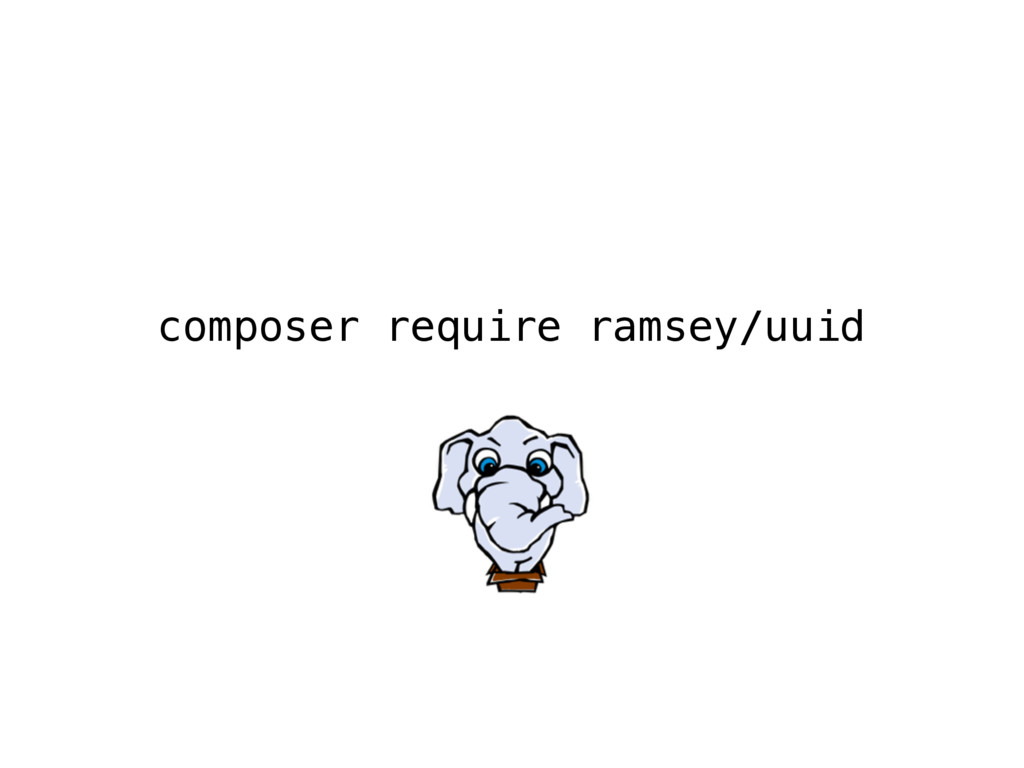 composer require ramsey/uuid