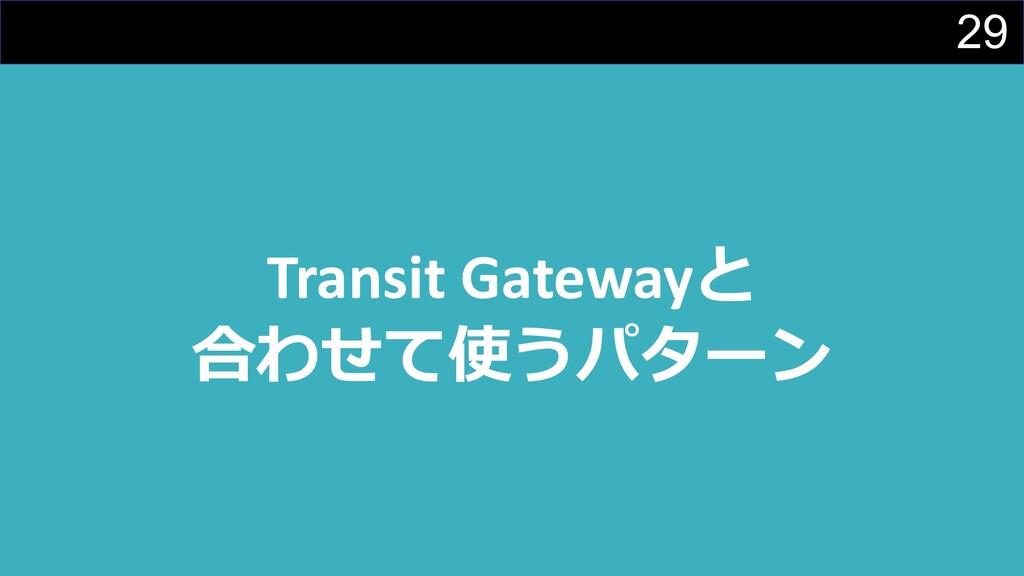 29 Transit Gatewayと 合わせて使うパターン