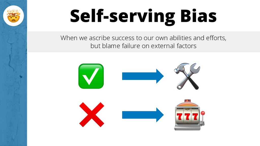 Self-serving Bias When we ascribe success to ou...