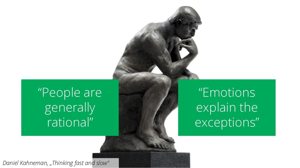 """People are generally rational"" ""Emotions expla..."