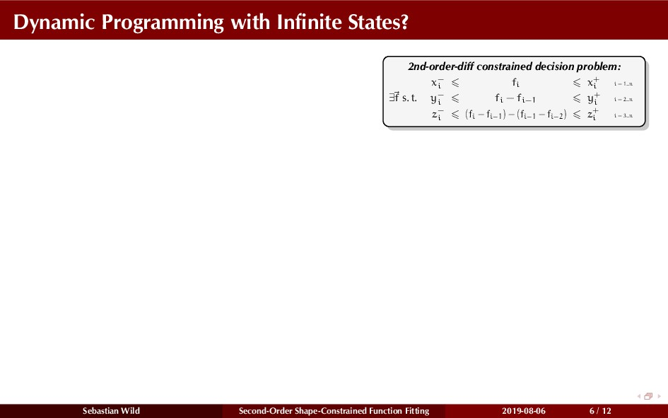 Dynamic Programming with Infinite States? 2nd-or...