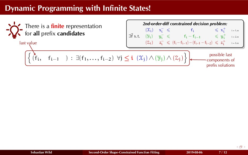 Dynamic Programming with Infinite States! There ...
