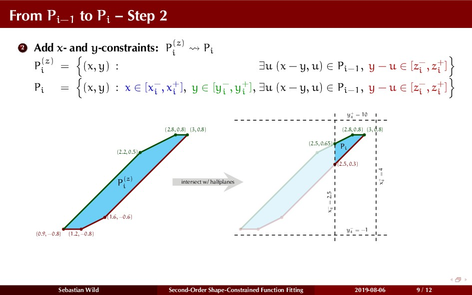 From Pi−1 to Pi – Step 2 2 Add x- and y-constra...