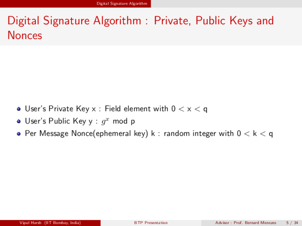 Digital Signature Algorithm Digital Signature A...
