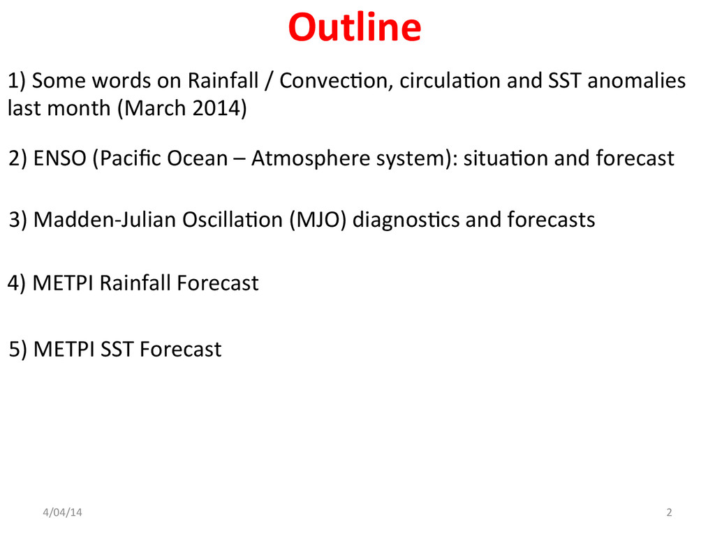 1) Some words on Rainfall / C...