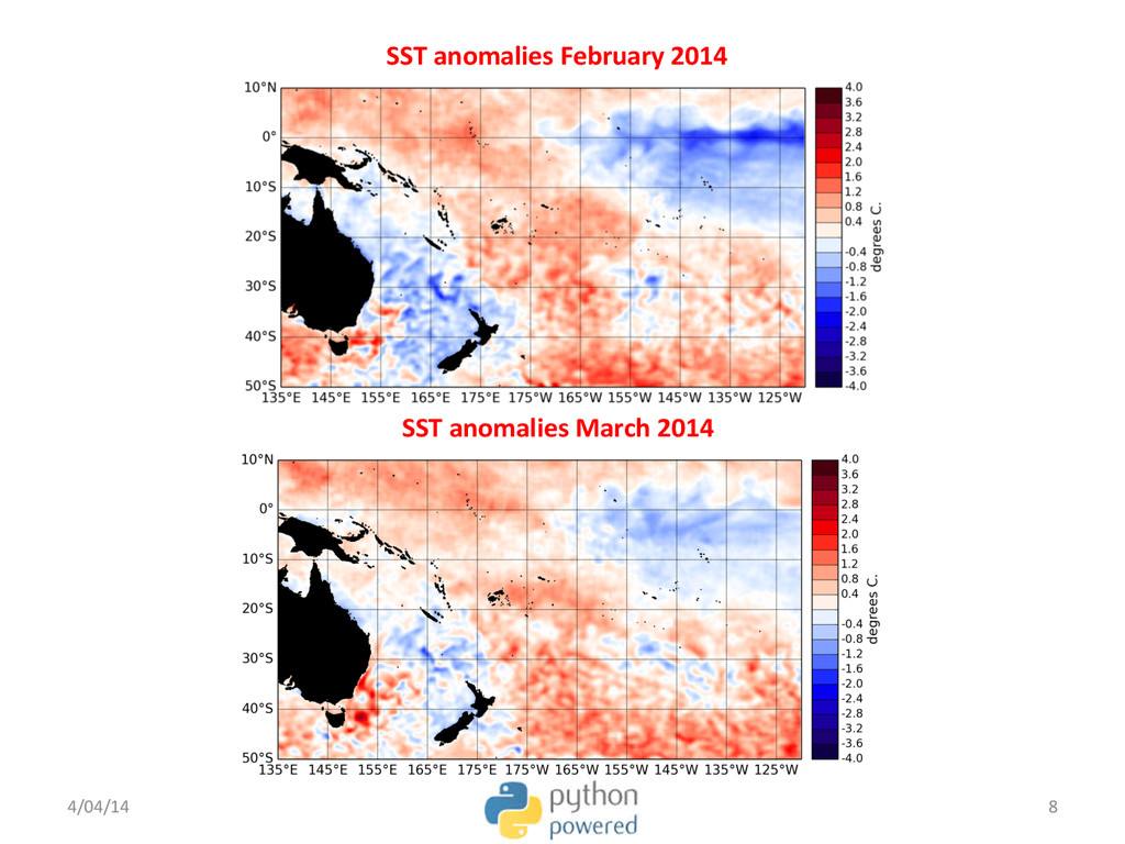 SST anomalies February 2014  SST ...