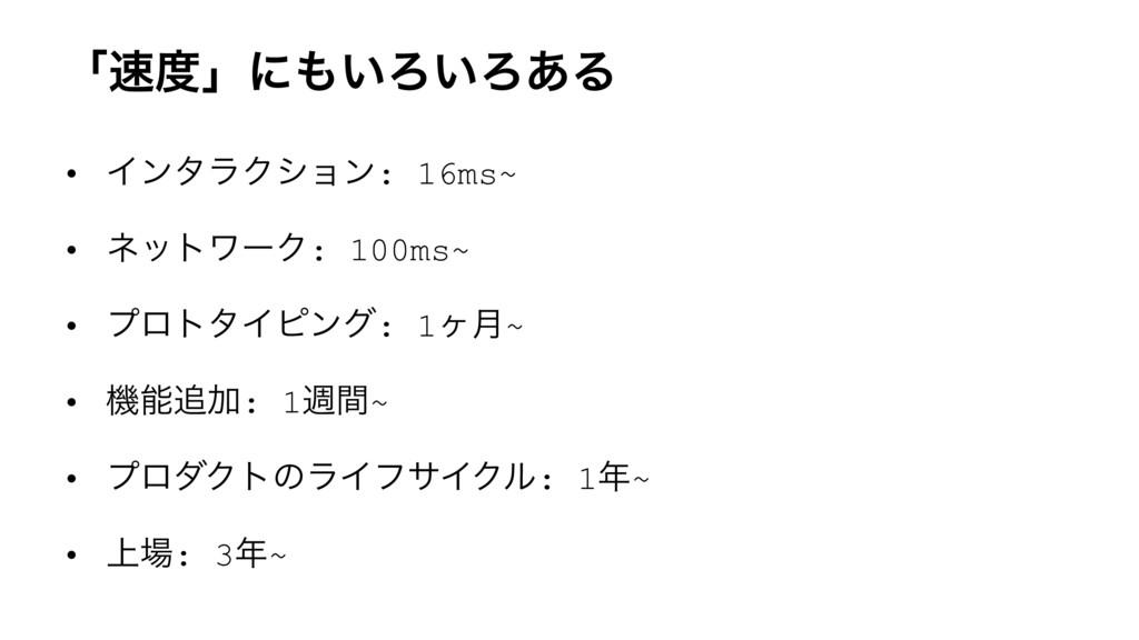 ʮʯʹ͍Ζ͍Ζ͋Δ • ΠϯλϥΫγϣϯ: 16ms~ • ωοτϫʔΫ: 100ms~...