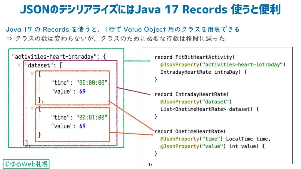 #ゆるWeb札幌 Java 17 の Records を使うと、1行で Value Objec...