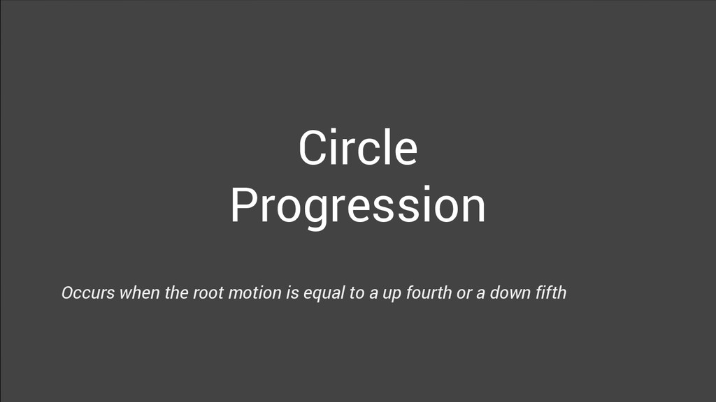Circle Progression Occurs when the root motion ...