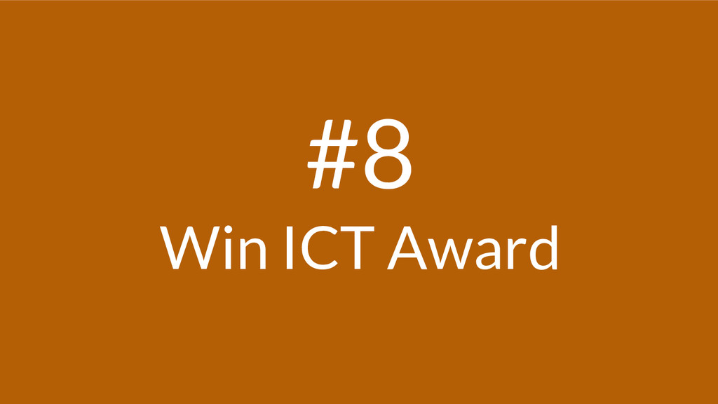 #8 Win ICT Award