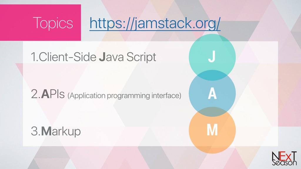 Topics 1.Client-Side Java Script 2.APIs (Applic...
