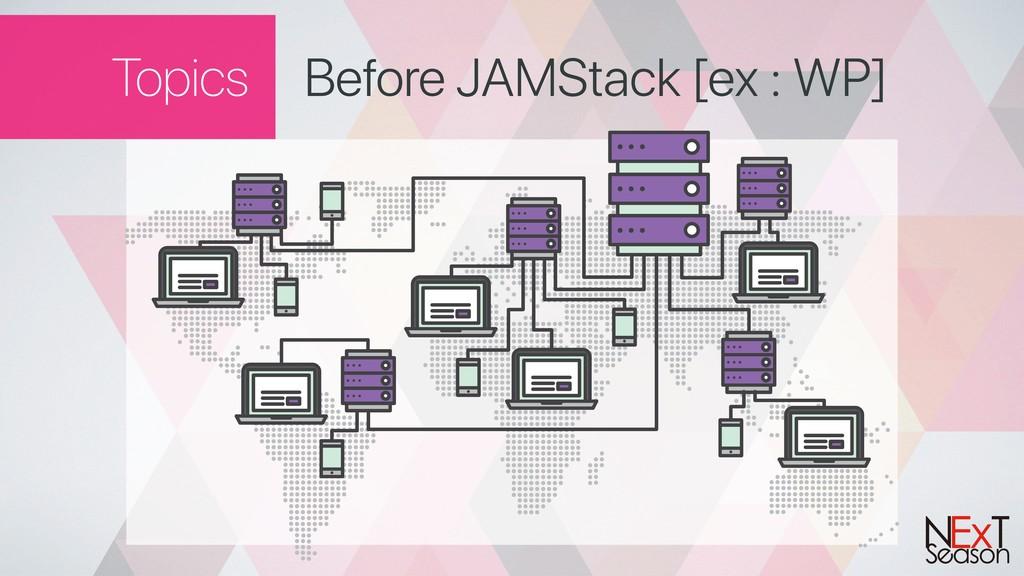 Topics Before JAMStack [ex : WP]
