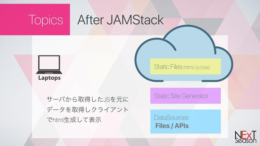 Static Site Generator Topics After JAMStack αʔό...