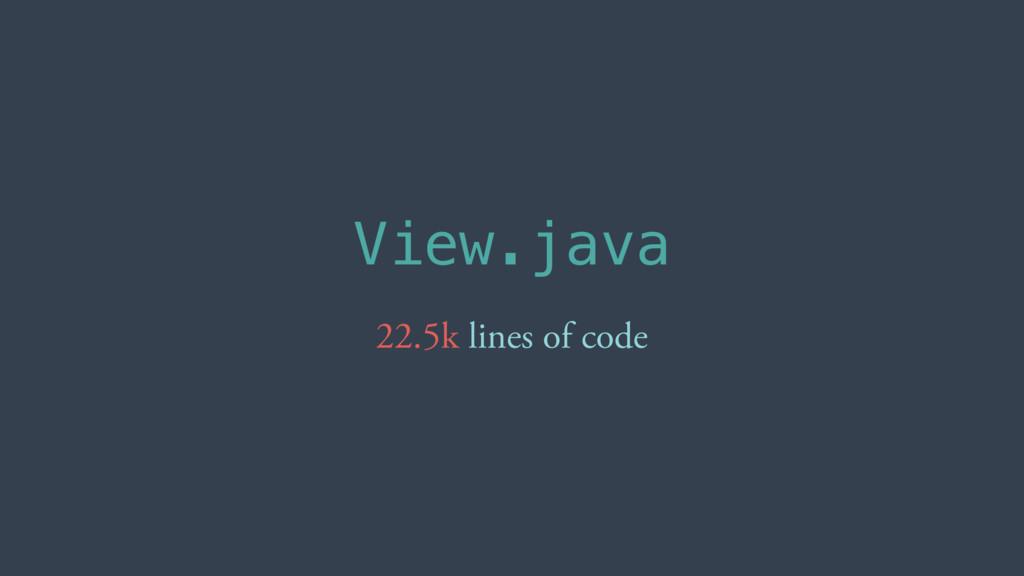 View.java 22.5k lines of code