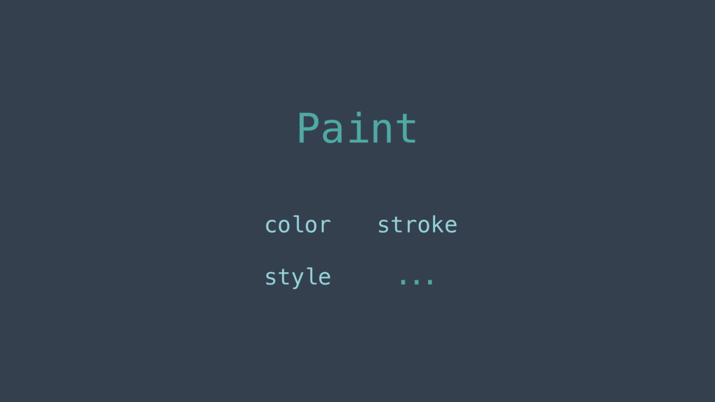 Paint color style stroke ...
