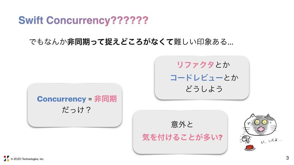 © ZOZO Technologies, Inc. 3 Swift Concurrency??...